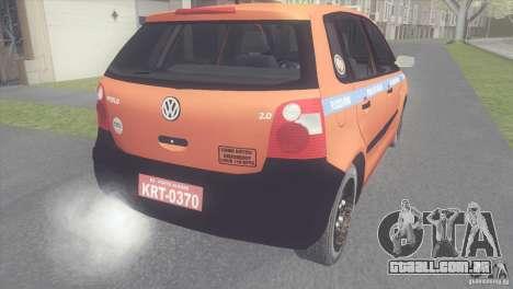 VW Polo Taxi de Porto Alegre para GTA San Andreas esquerda vista
