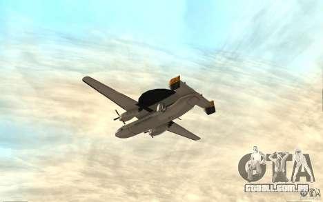 E-C2 Hawkeye para GTA San Andreas vista direita