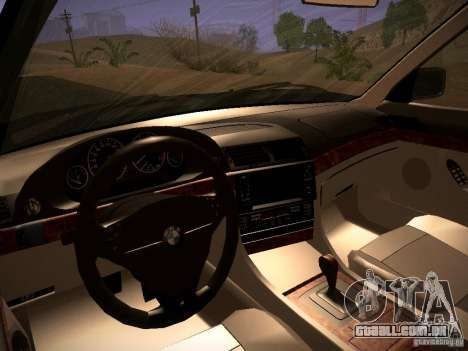 BMW 730i e38 1997 para GTA San Andreas vista interior