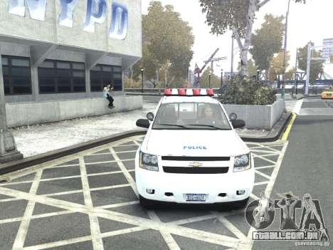 Chevrolet Tahoe NYCPD para GTA 4 vista direita