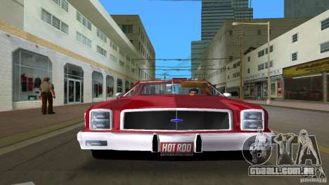 Chevrolet El Camino Idaho para GTA Vice City vista traseira esquerda