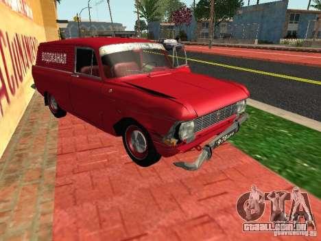 Moskvich 434 para GTA San Andreas vista traseira