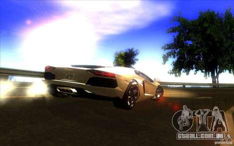 Lamborghini Aventador LP700-4 para GTA San Andreas vista superior