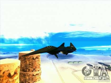 ADF-01 Falken para GTA San Andreas vista interior
