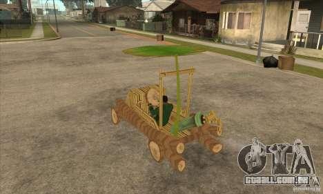 New Police Madagascar para GTA San Andreas traseira esquerda vista