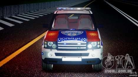 Range Rover Macedonian Police [ELS] para GTA 4 vista inferior