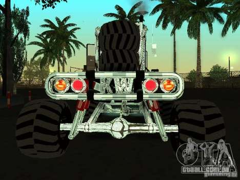 Kenworth W900 Monster para GTA San Andreas traseira esquerda vista