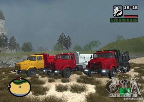 KrAZ 65055 caminhão para GTA San Andreas esquerda vista