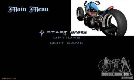 Telas de carregamento e menus no estilo de motoc para GTA San Andreas quinto tela