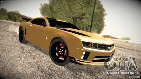 Chevrolet Camaro SS Transformers 3 para GTA San Andreas vista traseira