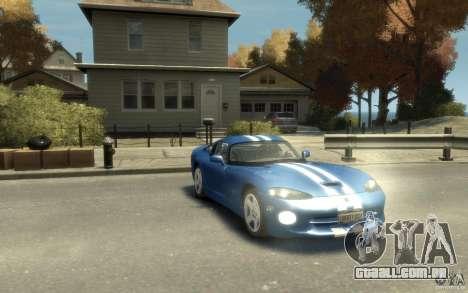 Dodge Viper GTS para GTA 4 vista de volta