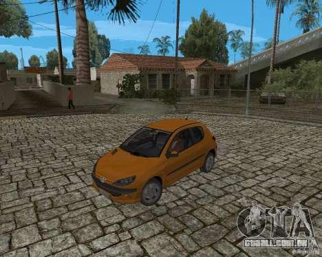 Peugeot 306 para GTA San Andreas vista traseira