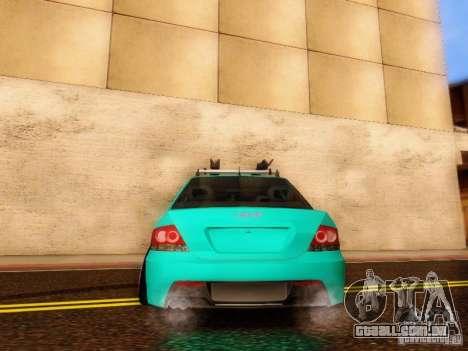 Mitsubishi Lancer para GTA San Andreas vista interior