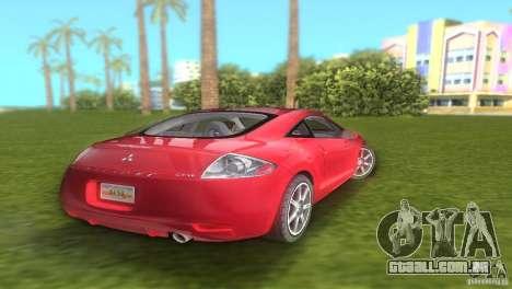 Mitsubishi Eclipse GT 2007 para GTA Vice City vista traseira esquerda