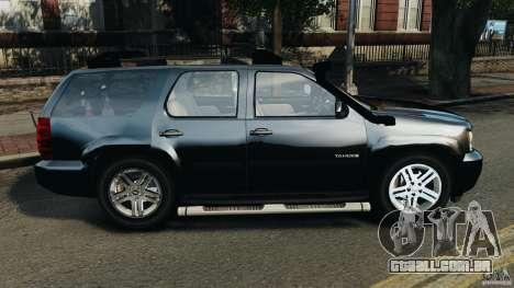 Chevrolet Tahoe LCPD SWAT para GTA 4 esquerda vista