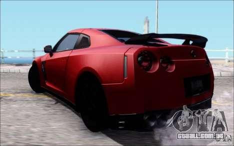 Nissan GTR 2011 Egoist (versão com sujeira) para GTA San Andreas esquerda vista