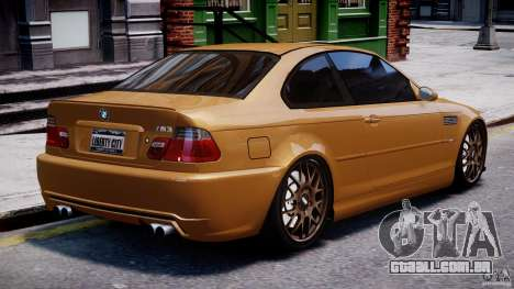 BMW M3 E46 Tuning 2001 v2.0 para GTA 4 vista superior