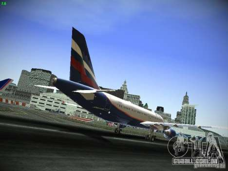 Aeroflot Russian Airlines Airbus A320 para GTA San Andreas vista traseira