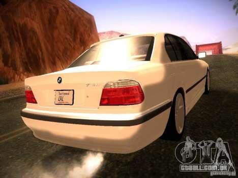 BMW 730i e38 1997 para GTA San Andreas esquerda vista
