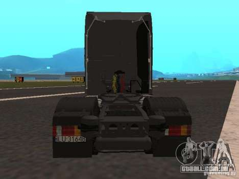 Mercedes-Benz Actros MP3 para GTA San Andreas vista traseira