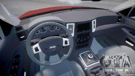 Jeep Grand Cherokee para GTA 4 vista de volta