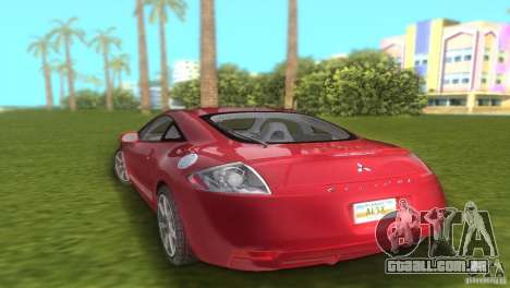 Mitsubishi Eclipse GT 2007 para GTA Vice City deixou vista