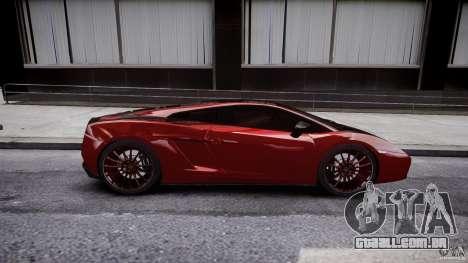 Lamborghini Gallardo Superleggera 2007 (Beta) para GTA 4 vista lateral