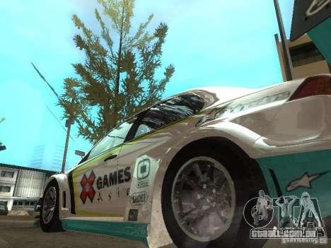 Mitsubishi Lancer Evo X Trailblazer Dirt2 para GTA San Andreas traseira esquerda vista