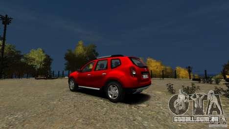 Dacia Duster SUV 4x4 2010 para GTA 4 traseira esquerda vista