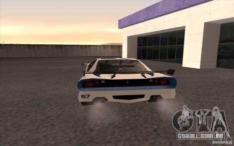 O novo Turismo para GTA San Andreas traseira esquerda vista