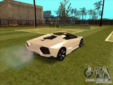 Lamborghini Reventon Convertible para GTA San Andreas vista direita
