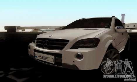 Mercedes Benz ML63 AMG para GTA San Andreas traseira esquerda vista
