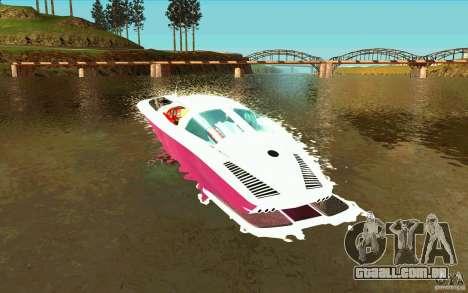 Mamba Speedboat para GTA San Andreas traseira esquerda vista