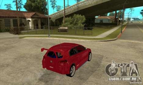 Alfa Romeo 147 para GTA San Andreas vista direita