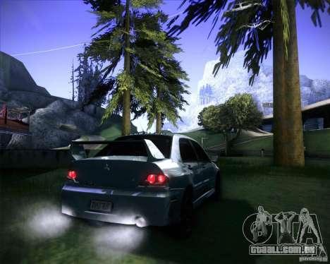 Mitsubishi Lancer Evolution VIII MR para GTA San Andreas esquerda vista