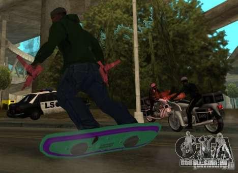 Hoverboard bttf para GTA San Andreas esquerda vista