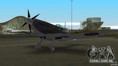 Spitfire Mk IX para GTA Vice City vista traseira esquerda