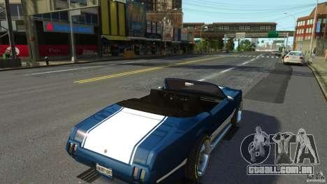 Sabre GT II Vinyl Roof para GTA 4 vista de volta