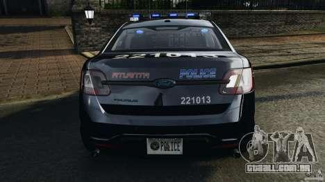 Ford Taurus 2010 Atlanta Police [ELS] para GTA 4 motor