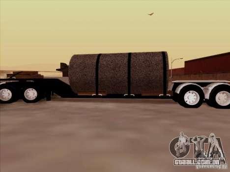 Reboque, Custom Peterbilt 378 para GTA San Andreas esquerda vista