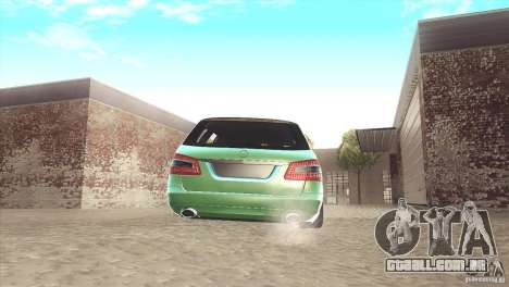 Mercedes-Benz E-Class Estate S212 para GTA San Andreas vista traseira