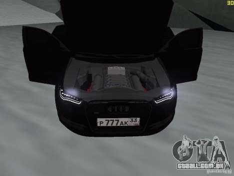 Audi A6 (C7) para GTA San Andreas vista interior