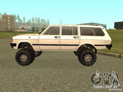 Volga 31022 gás 4 x 4 para GTA San Andreas traseira esquerda vista