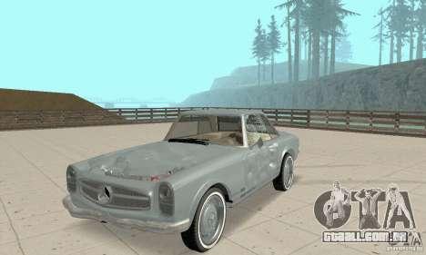 Mercedes-Benz 280SL (brilhante) para GTA San Andreas vista superior