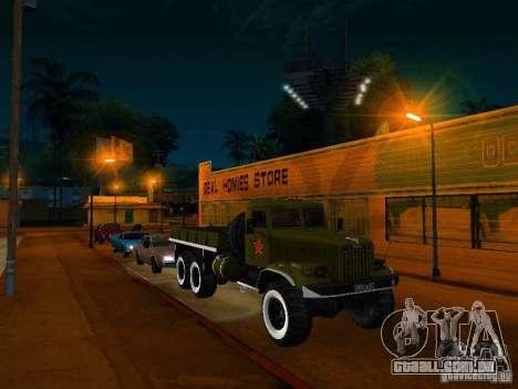 KrAZ caminhão Parade para GTA San Andreas vista direita