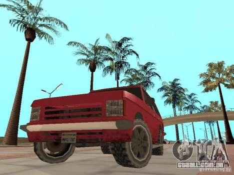 O novo Huntley para GTA San Andreas vista interior