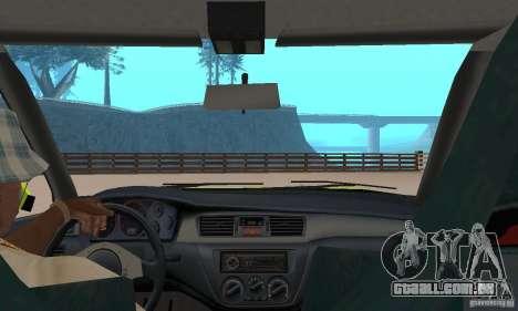 Mitsubishi Lancer Evo The Fast and the Furious 2 para GTA San Andreas vista traseira