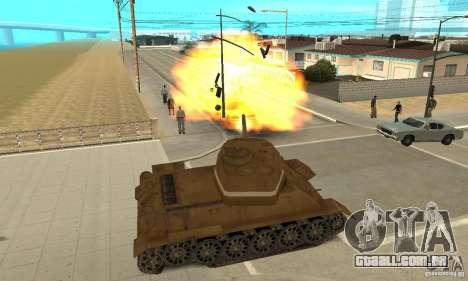 Tanque T-34 para GTA San Andreas vista direita