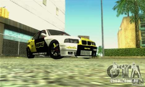 BMW E36 Urban Perfomance Garage para GTA San Andreas vista direita
