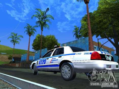 Ford Crown Victoria 2009 New York Police para GTA San Andreas vista direita